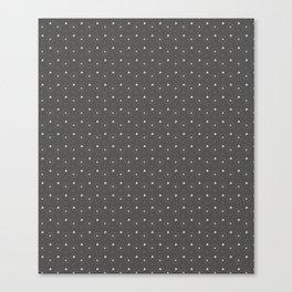Pantone Pewter and white Polka Dots Circle Pattern Canvas Print