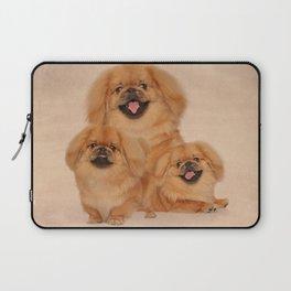 Pekingese dogs collage Laptop Sleeve