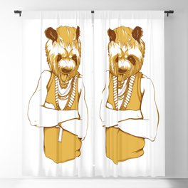 Bear - Panda - You're a Beast Blackout Curtain