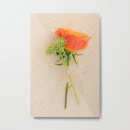 Mini Bouquet with an oramge rose Metal Print
