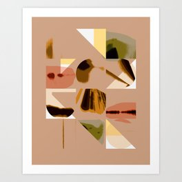 Shapes in Pastel Art Print