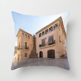 Spanish Town Throw Pillow