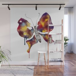Rainbow Watercolor Butterfly Wall Mural