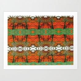 Australica Tribal Print Art Print