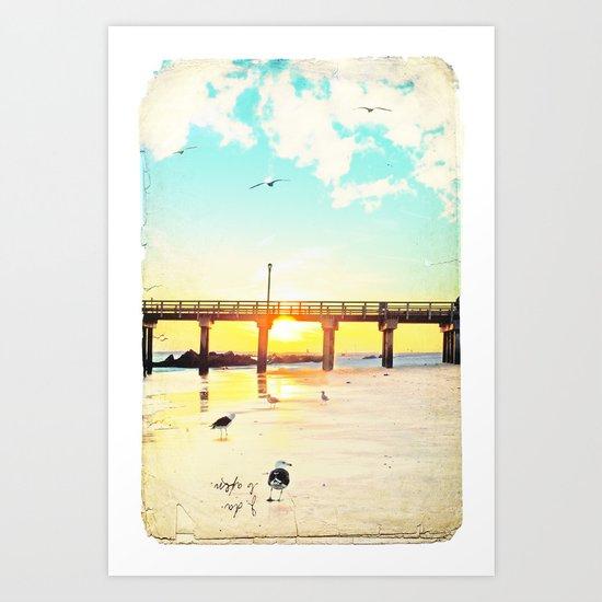 Boardwalk Art Print
