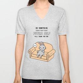 Do Something Bunny Unisex V-Neck