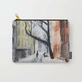 Snowy City Street Carry-All Pouch