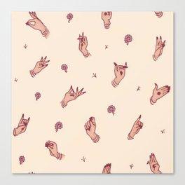 Kathak Hands Canvas Print