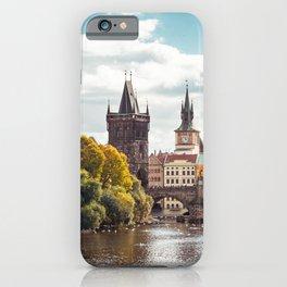 Historic Charles Bridge Vltava River Prague Amazing Cityscape Czech Republic Europe Ultra HD iPhone Case
