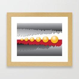 Sun Sphere Framed Art Print