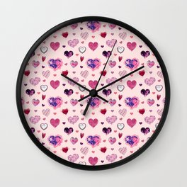 HEARTS Wall Clock
