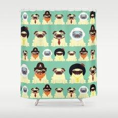 Pug pattern Shower Curtain