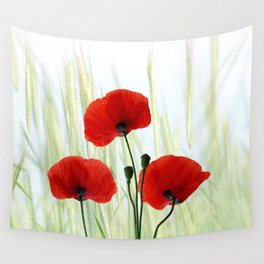 Poppies red 008 Wall Tapestry