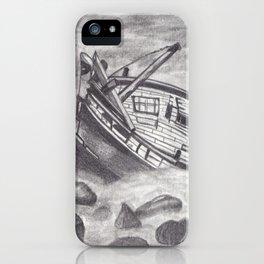 Barco hundido iPhone Case