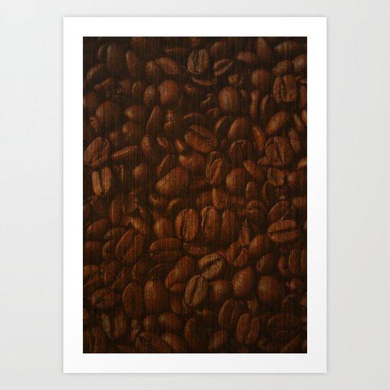 Coffee Bean Art Print