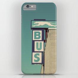 Greyhound Bus Sign iPhone Case