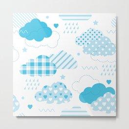 Baby Blue Clouds Metal Print