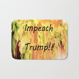 Impeach Trump! Bath Mat