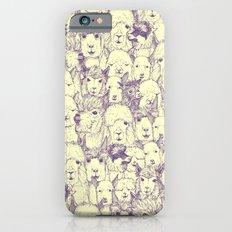 just alpacas purple cream iPhone 6s Slim Case