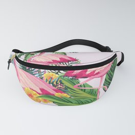 Pink Flamingos with Pink Background Fanny Pack