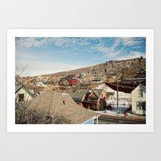 Ski Town 2 Art Print