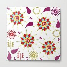 Cute pattern 4W Metal Print