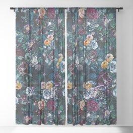 Night Flowers Sheer Curtain