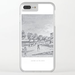 Skaters on fen drain Clear iPhone Case