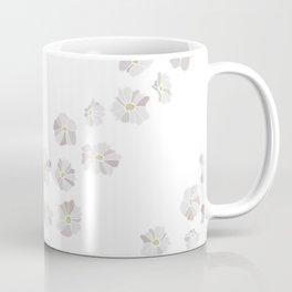 Diagonal flowers seamless repeating pattern small version, gray Coffee Mug