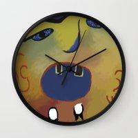 scream Wall Clocks featuring Scream! by Janko Illustration