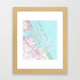 Vintage Map of Port St Lucie Inlet (1948) Framed Art Print