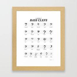 An Alphabet of Bass Clefs Framed Art Print
