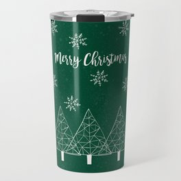 Merry Christmas Green Travel Mug
