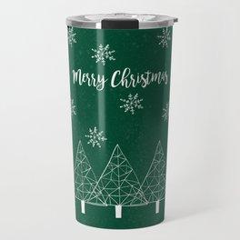 Merry Christmas Green Travel Mug