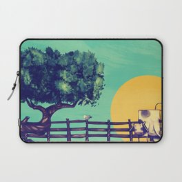 Cow Sunset Laptop Sleeve