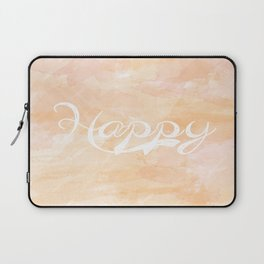 Watercolor Happy Laptop Sleeve