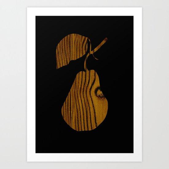 Wooden Pear Art Print