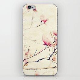 Spring Botanical - Tulip Tree, Magnolia × soulangeana II iPhone Skin