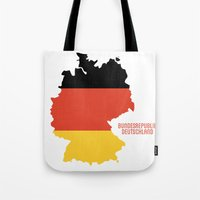 germany Tote Bags featuring Germany by ptrlng