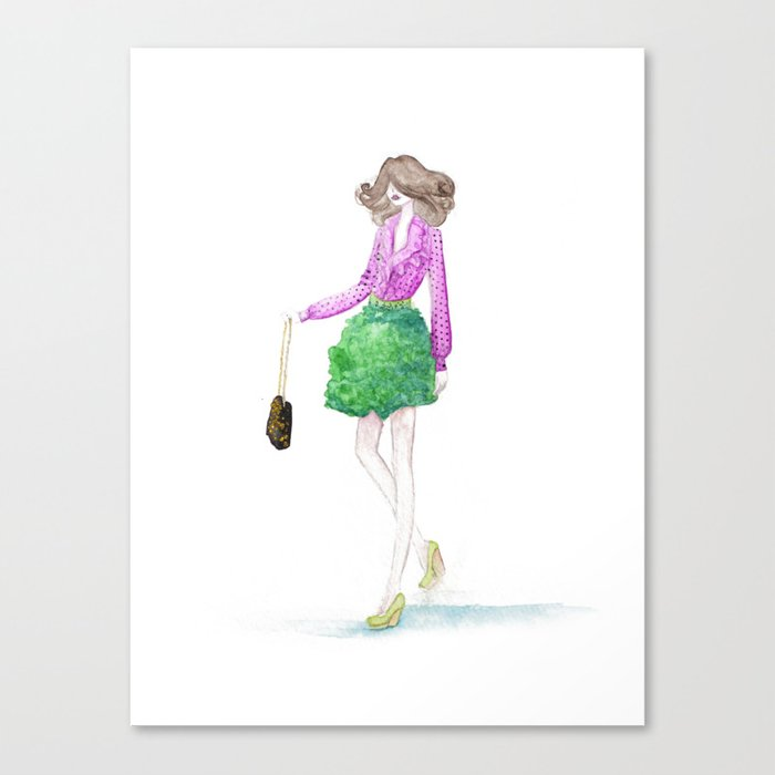 Watermelon Girl Canvas Print