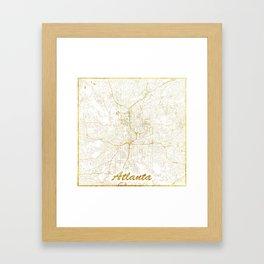 Atlanta Map Gold Framed Art Print