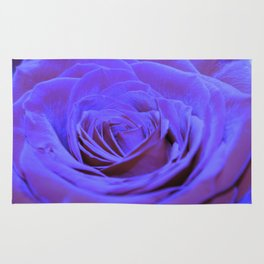 Purple Blue Rose Rug