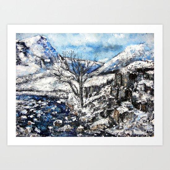 Glencoe snows Art Print