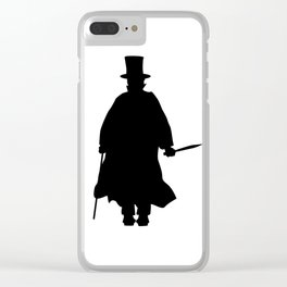 Jack the Ripper Silhouette Clear iPhone Case