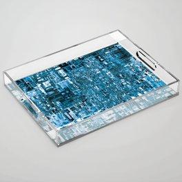 Circuitry Abstract Acrylic Tray