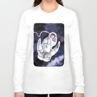 "neil gaiman Long Sleeve T-shirts featuring Neil the Sloth in Space! by Megan ""Tillette"" Jones"