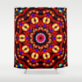 Kaleidoscope Christmas Bokeh Light Trails Shower Curtain