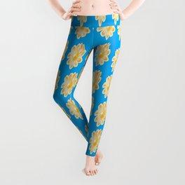 Golden Daisy Swimming in Blue Leggings