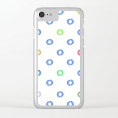 Watery Specks Clear iPhone Case