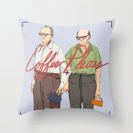 Coffee Please Throw Pillow